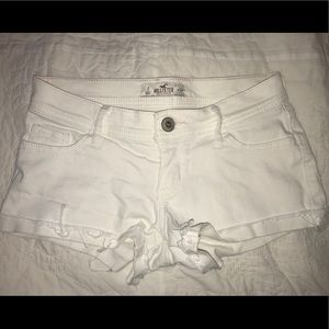 Hollister White Denim Shorts